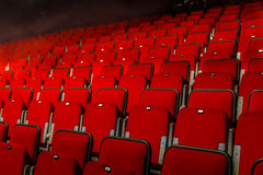 Red theater chairs Royalty Free Stock Photos