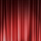 Red theater or cinema curtain Royalty Free Stock Photo