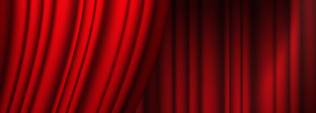 Red theater curtain. With irregular relief Stock Photos