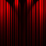 Red theater curtain royalty free illustration