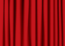 Red theater curtain Royalty Free Stock Photography