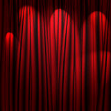 Red theater curtain Royalty Free Stock Photos