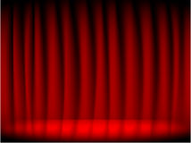 Red theater curtain Stock Photo