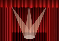 Red theater curtain Royalty Free Stock Image