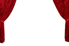 Red theater curtain background Royalty Free Stock Image