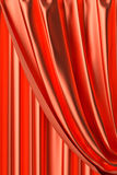 Red theater curtain fragment close-up view Royalty Free Stock Image