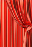 Red theater curtain fragment Royalty Free Stock Photography