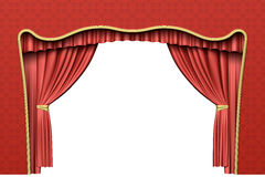 Red theater curtain Stock Photography