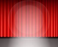 Red theater curtain with light Stock Image