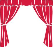 Red theater curtain. Stage art Stock Photos