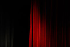 Red theater curtain Stock Image
