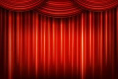 Red theater curtain stock illustration