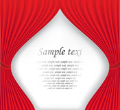 Red theater curtain on white background Stock Photo