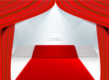 Red theater curtain. Stock Photography