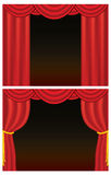 Red Theater Curtains Stock Image
