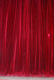 Red Theater Curtains Stock Images