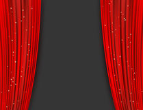 Red theater curtains with glitter. abstract background Stock Photography