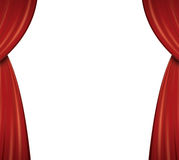 Red Theater Curtains Stock Photography