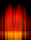 Red theater curtian. With lighting royalty free illustration