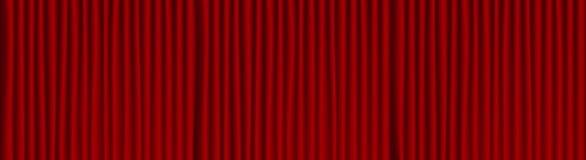 Red theater drape background . Wide opera scene royalty free illustration