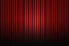 Red theater drapes Stock Photography