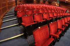 Red theater seat in the hall Stock Photography