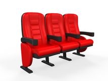 Red Theater Seat Royalty Free Stock Photography
