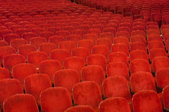 Red Theater seating Stock Photos