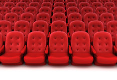 Red theater seats Royalty Free Stock Image