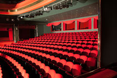 Red theater seats Royalty Free Stock Photos
