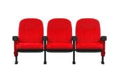 Red Theater Seats Stock Image