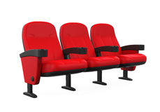 Red Theater Seats Royalty Free Stock Photo
