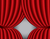 Red theater silk curtain background Royalty Free Stock Photo