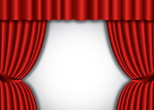Red theater silk curtain background Stock Photos