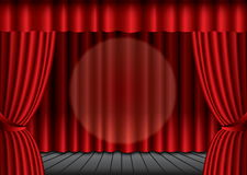 Red theater silk curtain background Stock Images