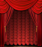 Red theater stage drapes Royalty Free Stock Photos