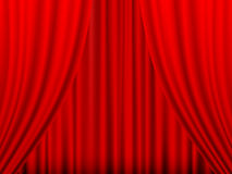 Red theatre curtain Stock Images
