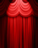 Red theatre curtain. With spotlight royalty free illustration