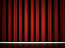 Red theatre curtain Royalty Free Stock Photography