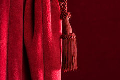 Red theatre curtain Royalty Free Stock Image