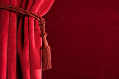 Red theatre curtain Royalty Free Stock Images