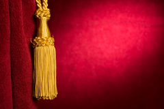 Red theatre curtain Royalty Free Stock Photos