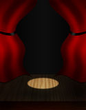 Red theatre curtains Stock Images