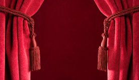 Red theatre curtains Royalty Free Stock Image
