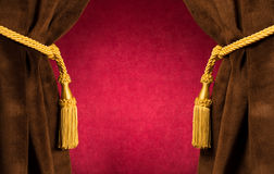 Red theatre curtains Royalty Free Stock Photos