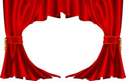 Red theatre style curtains. An illustration of a pair of red theatre style curtains Royalty Free Stock Photography