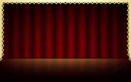 Red theatrical background Stock Photography