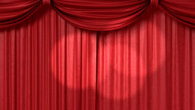 Red theatrical curtain Stock Photos