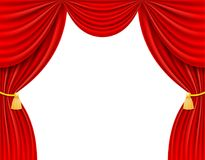 Red theatrical curtain vector illustration Royalty Free Stock Image