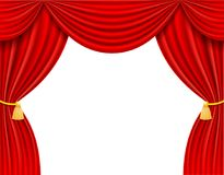 Red theatrical curtain vector illustration Royalty Free Stock Photography